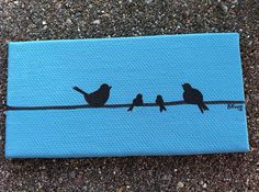 Bird Family on Etsy, $10.00