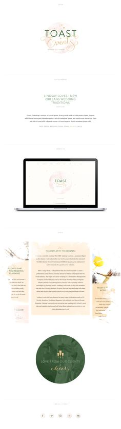 Brand Identity and Custom Site for Toast Events http://toast-events.com #flosites #floagency #parallax #interactive #layout