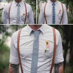 For those asking if men in suspenders still need boutonnieres.