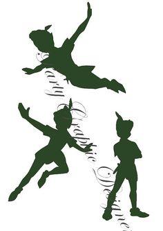 Silhouette Peter Pan blackgreen party disney on Etsy, $434.78