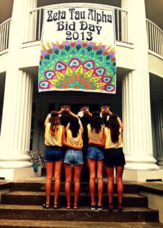 Zeta Tau Alpha Boho themed Bid Day 2013