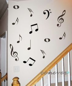 45 Music NoteRemovable Graphic Art wall decals stickers by ccnever, $20.00. Not a bad price at all!