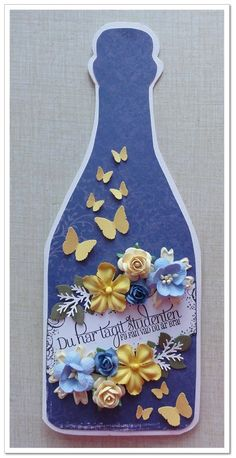 Graduation bottle card by DT Malin   http://blog.pysseldags.com/2012/04/student.html http://shop.pysseldags.se
