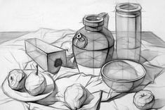 ideas drawing pencil sketches still life for 2019 Academic Drawing, Drawing Studies, Drawing Skills, Drawing Lessons, Art Studies, Drawing Techniques, Art Lessons, Still Life Sketch, Still Life Drawing