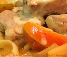 Pork Tenderloin Braised with Apples and Onions