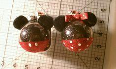 Mickey & Minnie ornaments