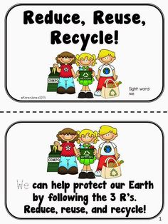 Reduce Reuse Recycle Poster Made Using Clip Art From Dj Inker S Kidoodlez Science Amp Math
