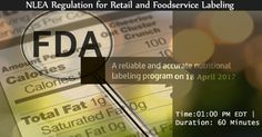 """Webinar on """"NLEA Regulation for Retail and Foodservice Labeling"""". Feta Cheese Nutrition, Food Service, Health And Safety, Acting, Retail, Education, Key, Unique Key, Shops"""