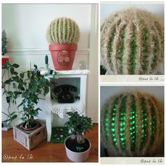 She made a cactus that lights up! #crochet