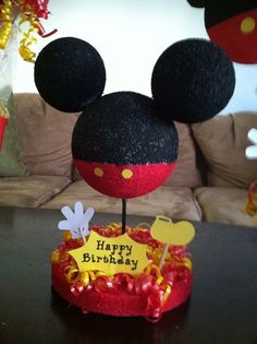 Mickey Mouse Centerpieces for 1st birthday
