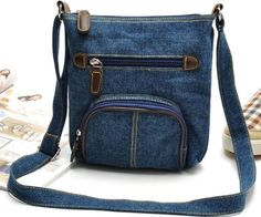 Vintage Denim bag Men Women handbag canvas small shoulder bag girls crossbody messenger bag bolsos