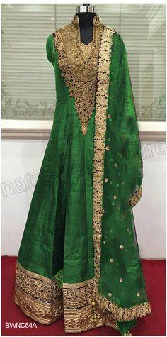 #Designer Anarkali # Green#Indian Wear #Desi Fashion #Natasha Couture #Indian…