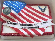 AirForce retirement cake.