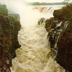 Guaíra Falls, Brazil-Paraguay border. In terms of total volume, the largest waterfall on earth 1,750,000 cubic feet.