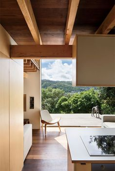 Modern small space in New Zealand with ground floor and deck