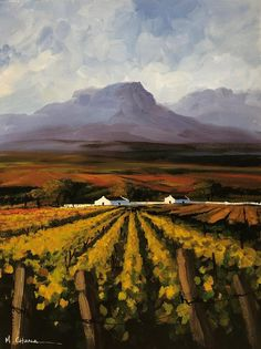 Shop Mauro Chiarla Artist on Fine Art Portfolio African Art Paintings, Farm Paintings, South African Wine, South African Artists, Landscape Art, Landscape Paintings, Landscapes, Building Art, Impressionist Art