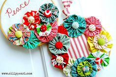 A Glimpse Inside: Holiday Embroidery Hoop Wreath Tutorial from The Silly Pearl