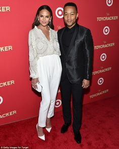 Outfit clash: Chrissy Teigen and John Legend, who've been married since 2013, both star in...