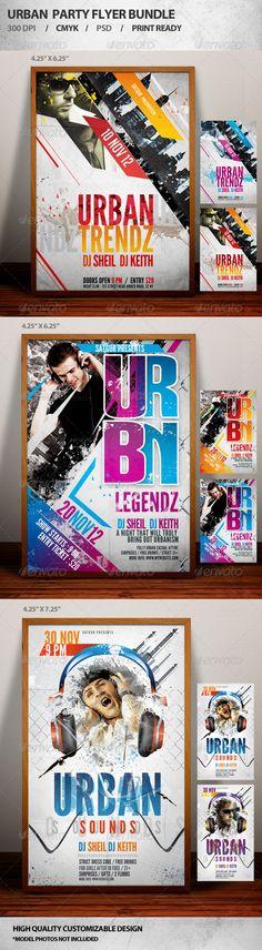 Urban Party Flyer Bundle - Events Flyers