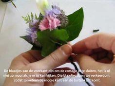 Hoe maak je een #corsage, #corsage zelf maken pompoenzaden-decoshop.nl