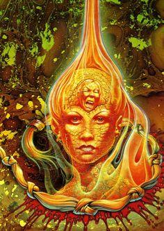 Burn Witch Burn.  Art by Patrick Woodroffe