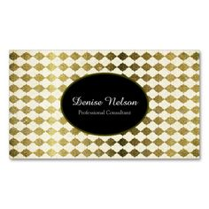 Professional Gold Glitte Quarterfoil Business Card