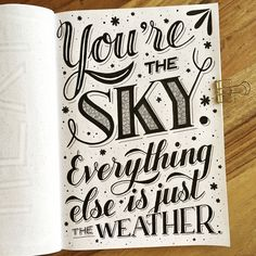 Keep this in mind when the week starts again tomorrow. Hand Lettering Quotes, Creative Lettering, Brush Lettering, Lettering Design, How To Write Calligraphy, Calligraphy Quotes, Calligraphy Letters, Caligraphy, Drawing Quotes