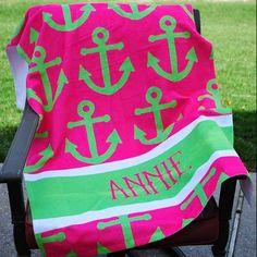 Beach Towel - Style #52003 Anchor Print