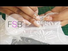 Sewing Darts into Lace Fabric - YouTube