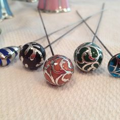 Sterling overlay and sterling deposit hatpins