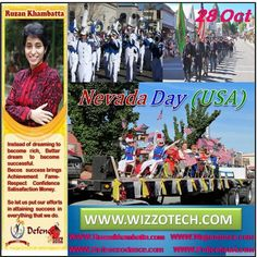 Nevada Day (USA) Nevada Day is a state holiday in Nevada in the United States. It is celebrated on the last Friday of October each year. It commemorates Nevadas frontier legacy and its entry into the Union as the 36th state on October 31 in 1864.  #RuzanKhambatta #Day #specialcelebration #PoliceHEART1091 #PoliceHEART #Entrepreneur #Celebrate #WorldDay #National #NationalDay #InternationalDay #International #UN #US #SpecialDay #India #NevadaDay(USA)