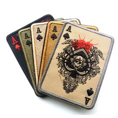 TAD Death Card Rectangular Patch Embroidery Poker Tactical Patches Hook And Loop Military Morale Armband Army Combat Badge #>=#>=#>=#>=#> Click on the pin to check out discount price, color, size, shipping, etc. Save and like it!