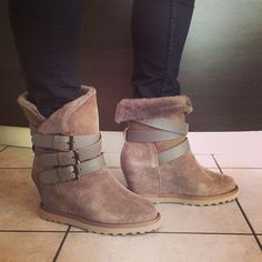 Ash 'Yes' wedge suede shoes
