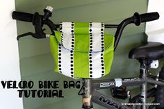 Reflective Bike Bag. Make this in your child's favorite color and they will be stylish and safe.