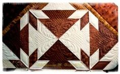 Hunter's Star Custom feather quilting by Shannon M. Hicks by emily