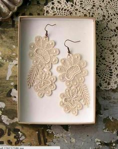 An Idea Of What To Do With The Lace From Mom Or Grandmas Wedding Dress