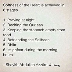Softness of the heart...