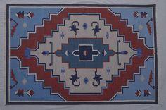 Persian Cotton Dhurrie Rug - 4x6, Navajo Rug, Bohemian Rug, Tribal Rug, Moroccan Rug, Southwestern Rug, Bohemian Rug CD-134