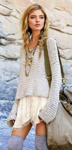 boho chic (?) this would be so much cuter if it didnt have sleeves