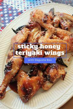 Sticky Honey Teriyaki Chicken Wings + June Degustabox Review