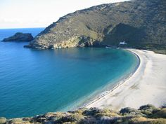 Onar, an eco-resort in a rare protected wetland on the eastern coast of Andros, one of the Greek Cycladic islands Most Beautiful Beaches, Beautiful Places, Amazing Places, Shells And Sand, Greece Travel, Beautiful Islands, Greek Islands, Water, Outdoor