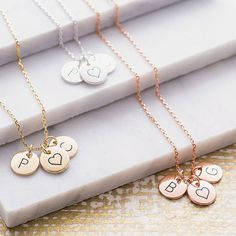 Are you interested in our disc initial necklace? With our personalised silver necklace you need look no further.