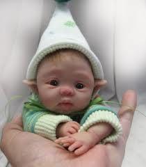 Polymer clay baby elf