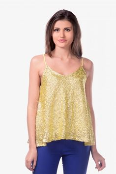 It's A Party Sequin Flare Top