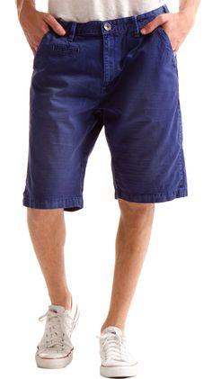 Indigo colored shorts