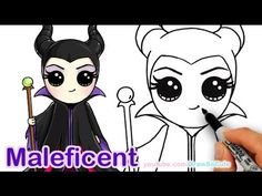 How to Draw Disney Maleficent Chibi step by step Cute