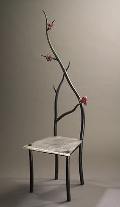 'Dogwood chair' by Rachel Miller--Steel and Copper. @designerwallace