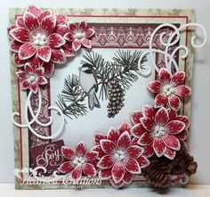 Heartfelt Creations | Pinecones And Poinsettias