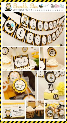 bumble bee. Great party decorating ideas to make your party look great!