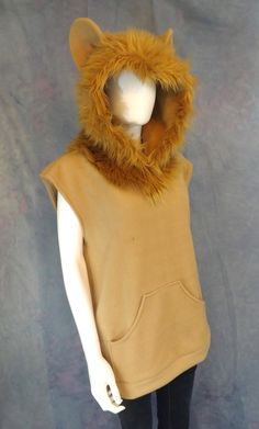 Welcome to Wests Custom Creations! This listing is for a custom made lion hoodie available in multiple colors and varieties. 100% handmade,